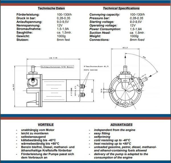 Hardi Fuel pump 8812-3